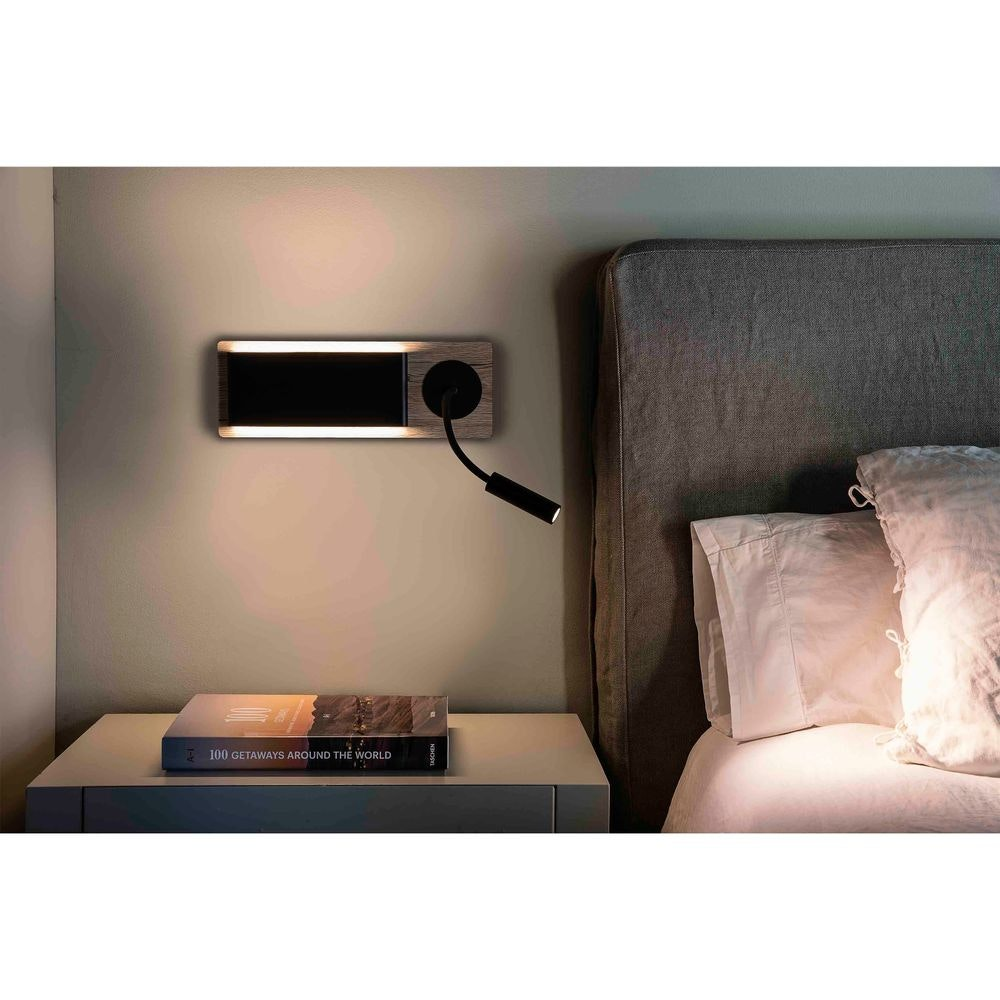 LED Wandleuchte MOOD mit Lesespot 2x3W IP20 Braun, Schwarz 2