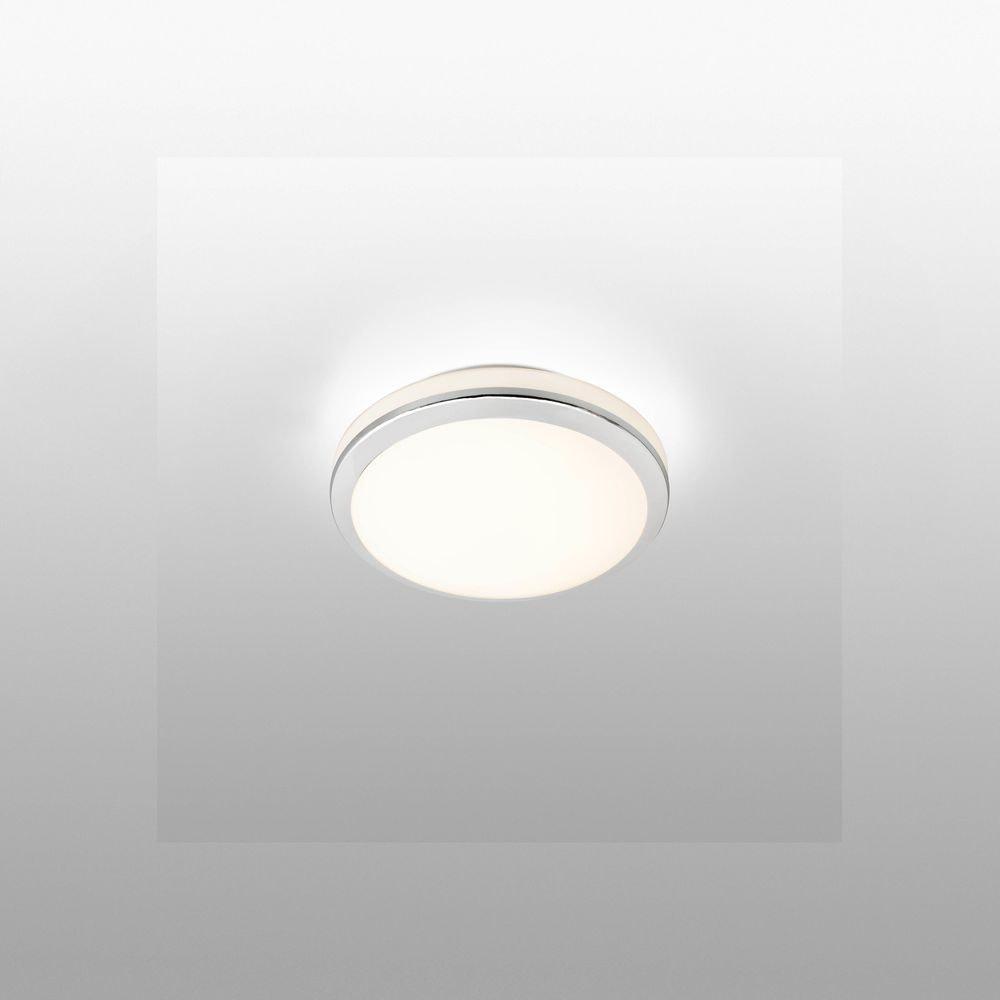 LED Bad-Deckenleuchte Cloe 24W 2700K IP44 Chrom
