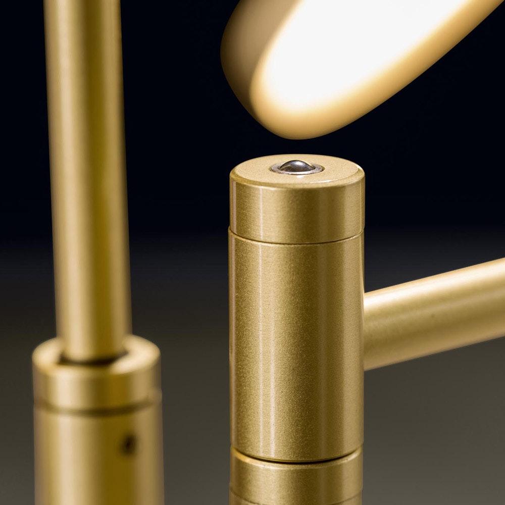 Holtkötter LED-Stehleuchte PLANO TWIN Platin Tastdimmer 4400lm 2700K thumbnail 3