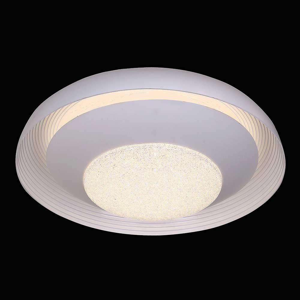 Mantra Ari LED-Deckenleuchte Weiß funkelnd 3
