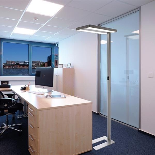 LED Büro Stehlampe Motion 9600lm Präsenzmelder & Tageslichtsensor Weiß 2