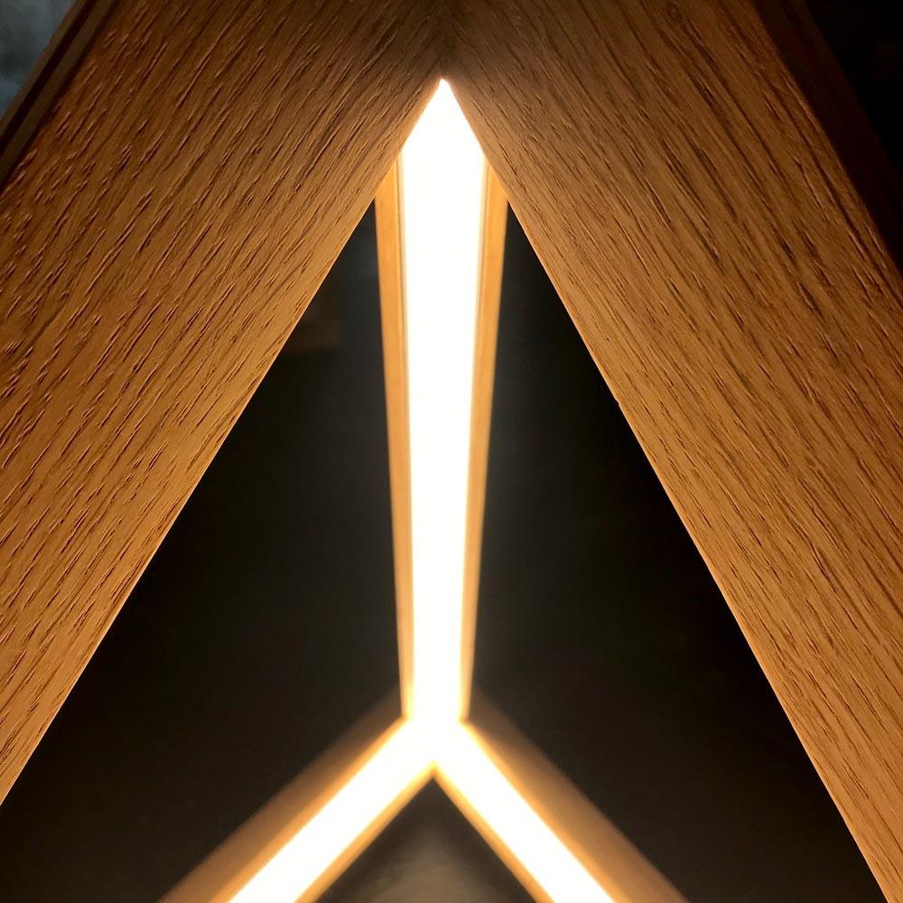 LED Tischleuchte Trigonon 2500lm Eiche-Geölt 2