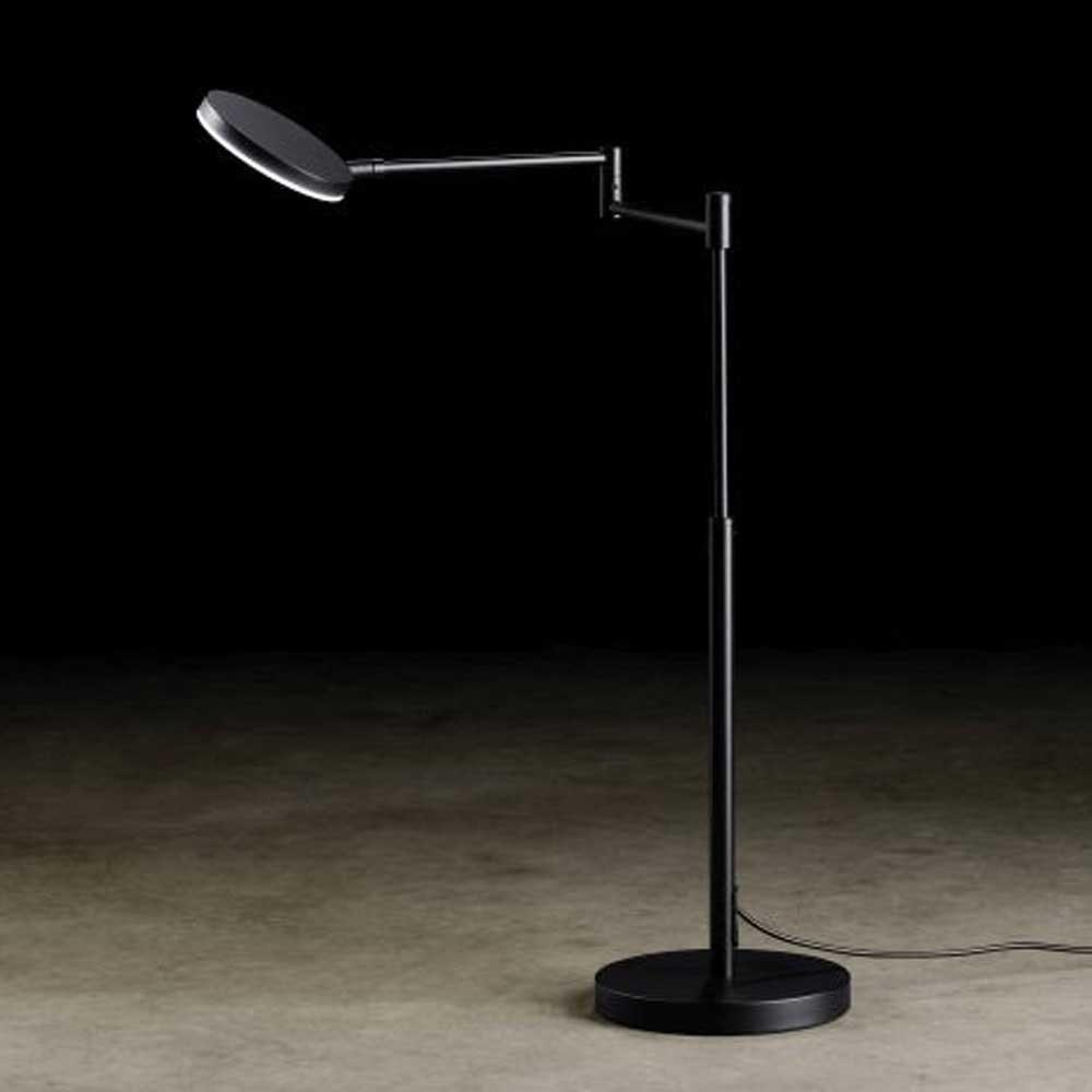 Holtkötter LED-Tischleuchte Plano T mit Tastdimmer Schwarz 1