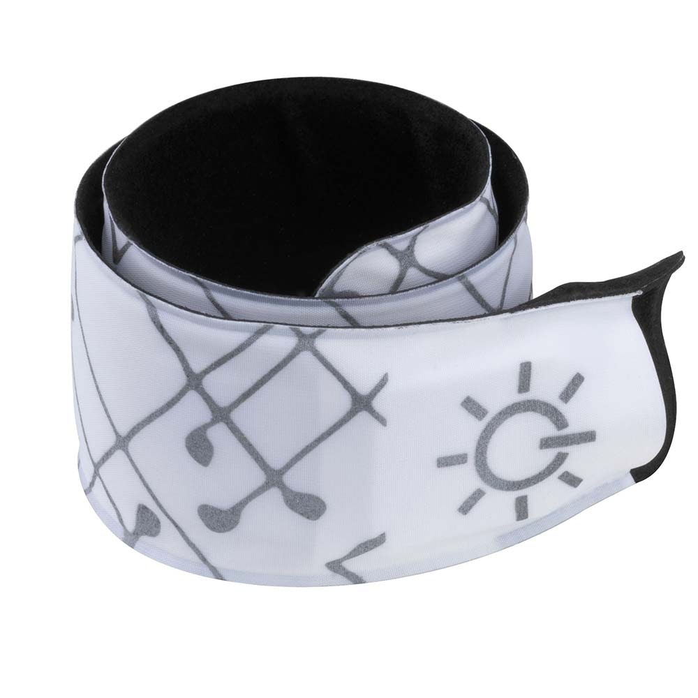 Beleuchtetes Schnapparmband Weiß mit roter LED 3