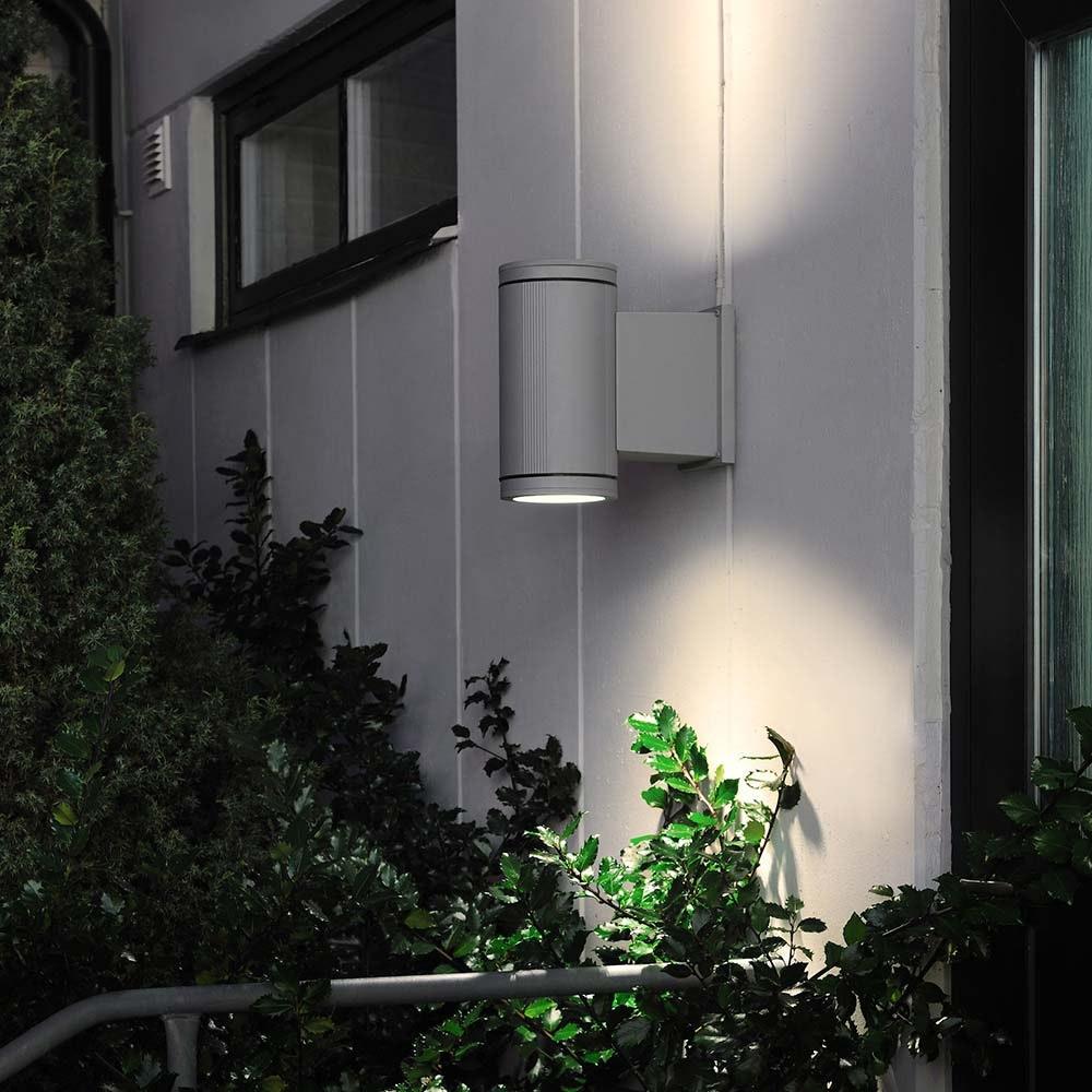 Siracusa Aussen-Wandleuchte mit Halogen Leuchtmittel Grau, klares Glas, Reflektor 2