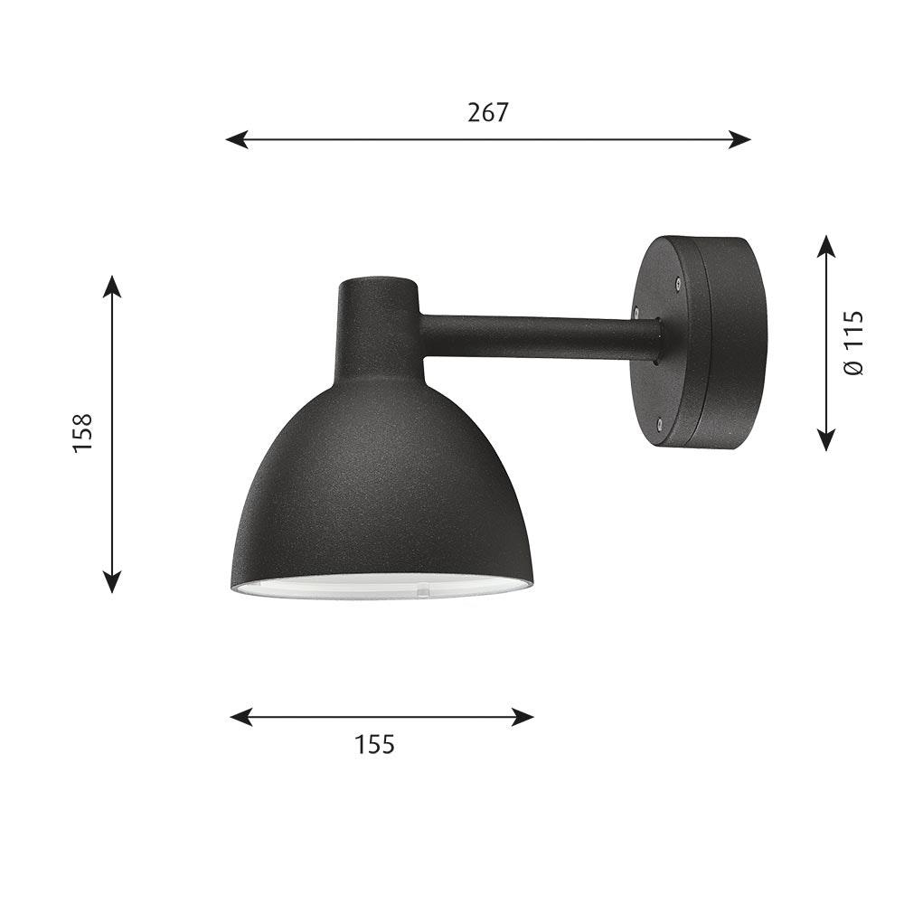Louis Poulsen Außen-Wandlampe Toldbod 155 IP44 3