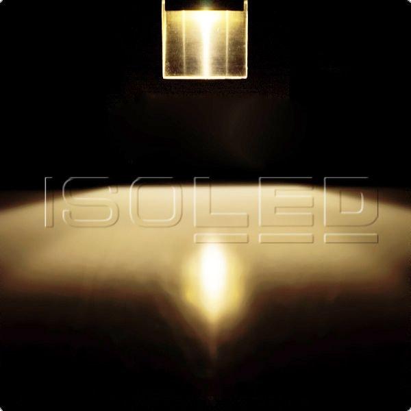 LED Einbauleuchte rechteckig IP44 Edelstahl 1W warmweiß 2