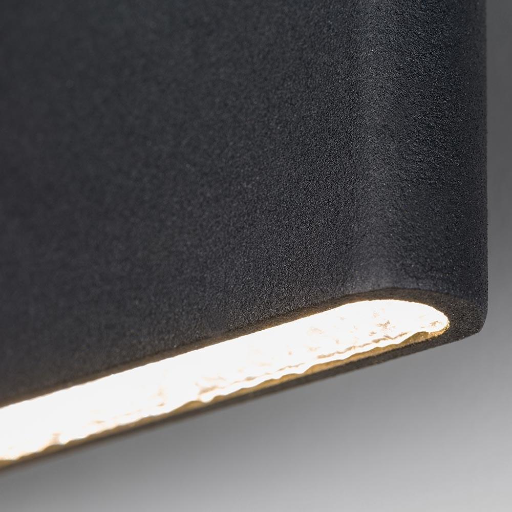 Slim LED-Wandleuchte Up&Down 540lm Schwarz eloxiert 4