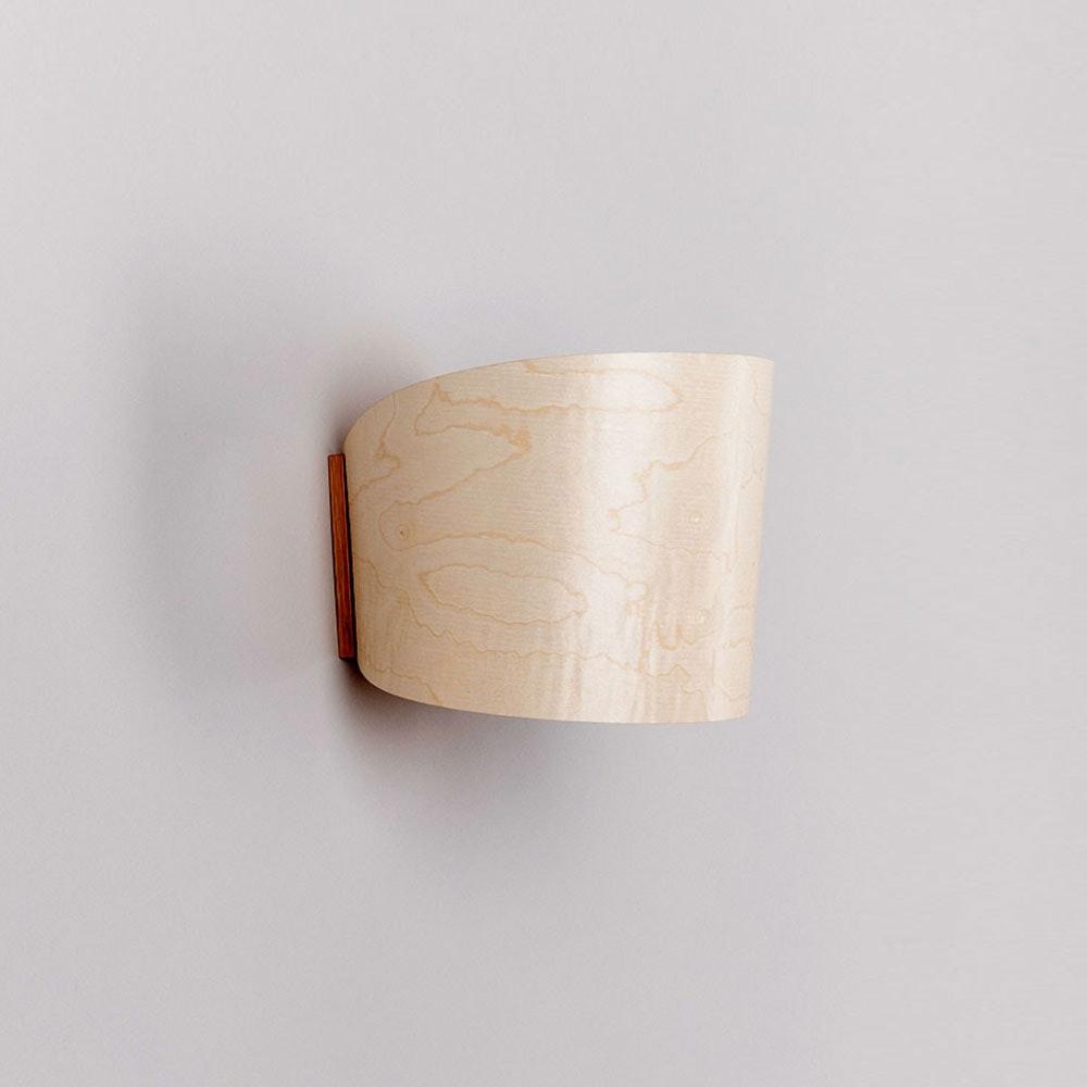 Holz Wandleuchte mit Schirm Zylindrisch thumbnail 3