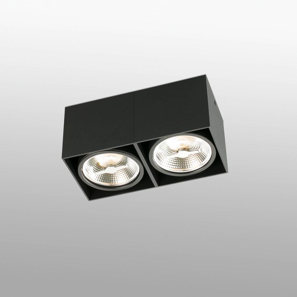 Deckenlampe TECTO 2-flammig Schwarz