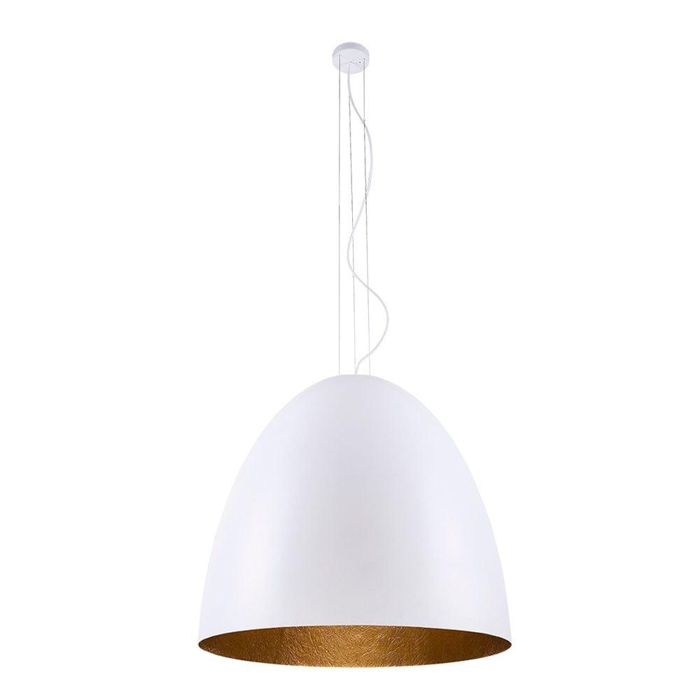 Licht-Trend Hängelampe Egg XL Ø 75cm Weiß, Goldfarben
