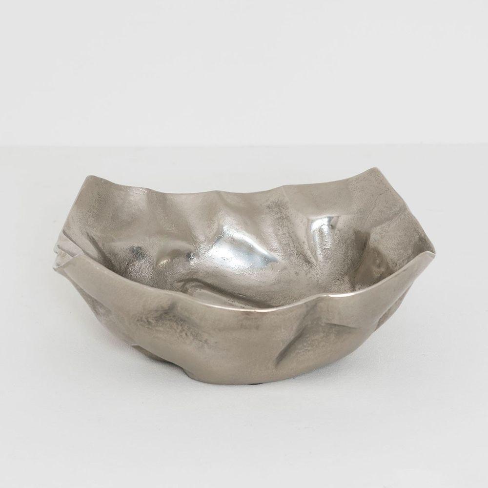 Dekoschale Rustica Gross Aluminium Silber 1