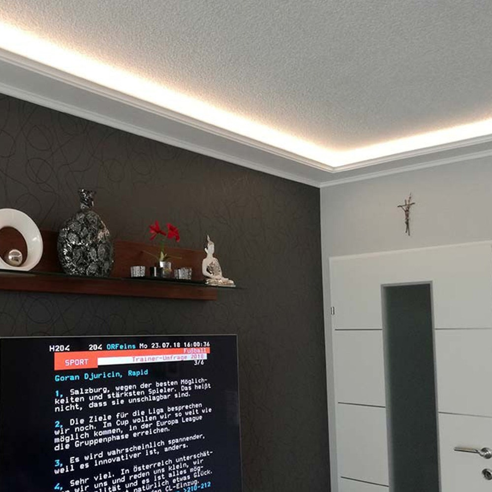 Dekor-Profil M Stuckleiste 1,2 m indirekt Wand oder Decke 4