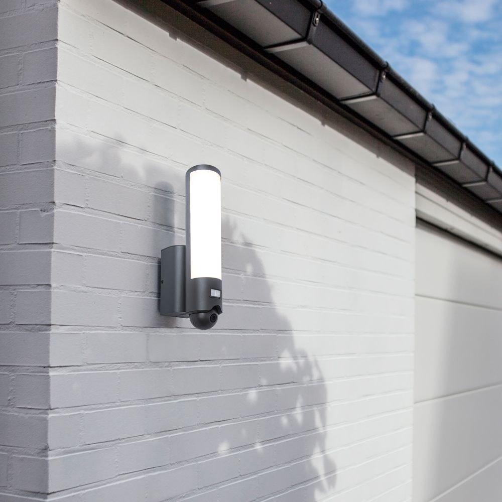 LED Kameraleuchte Elara mit Sensor IP44 Anthrazit 1