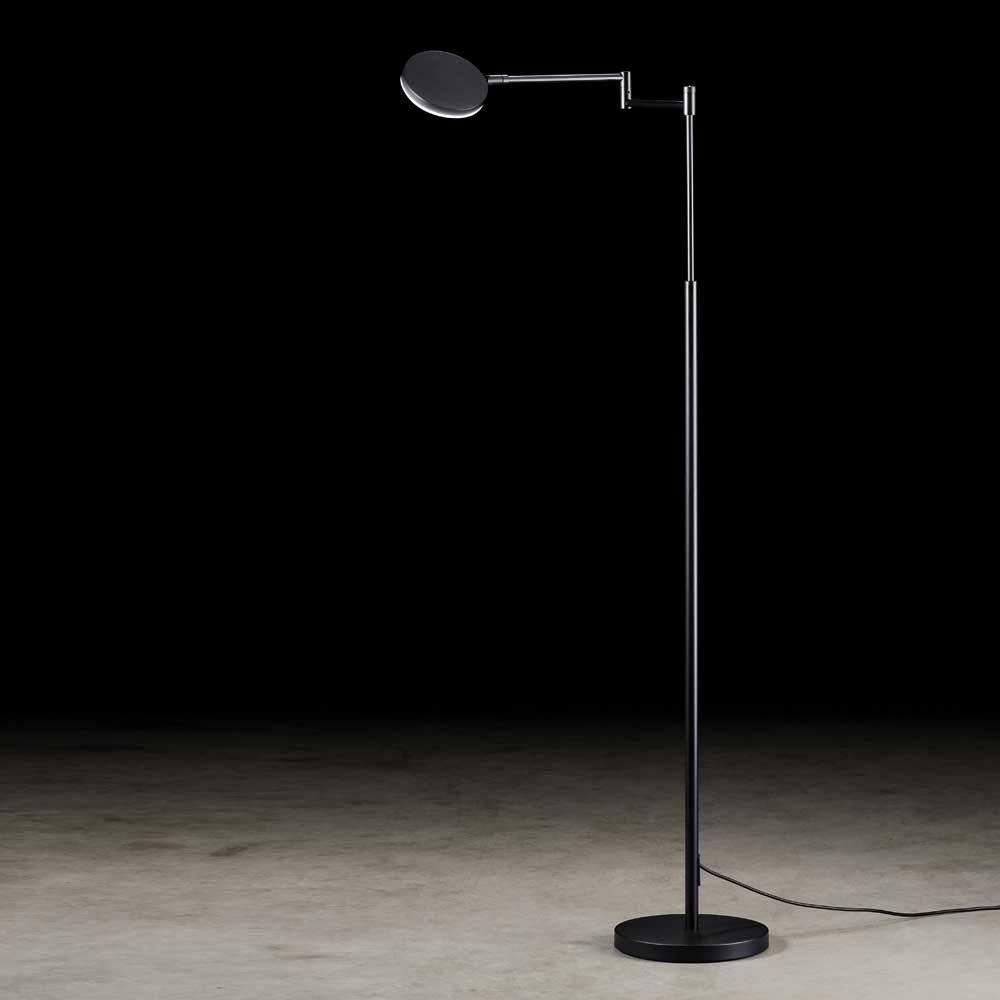 Holtkötter LED-Stehlampe Plano B mit Tastdimmer Schwarz 1