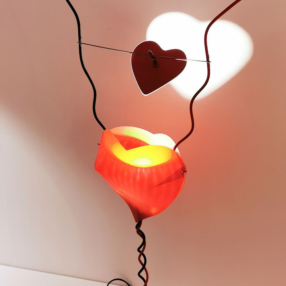 Ingo Maurer Tischlampe One From The Heart Herzleuchte 1