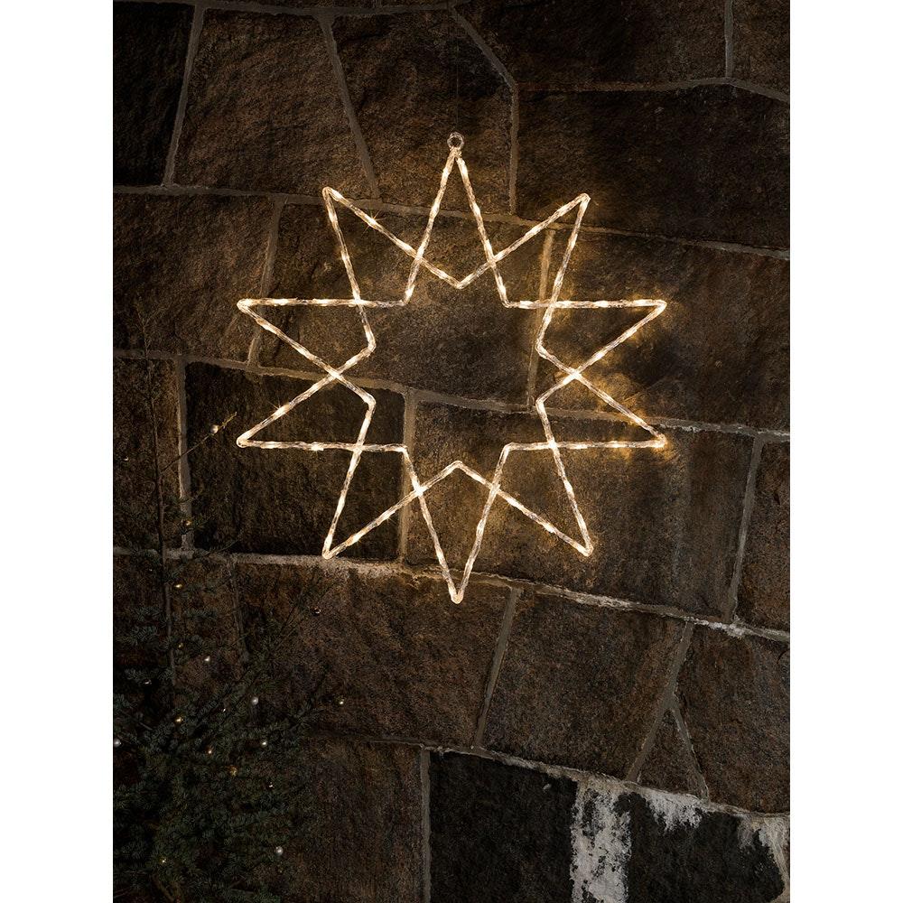 LED Acryl Stern 10 Zacken 120 Warmweiße Dioden IP44