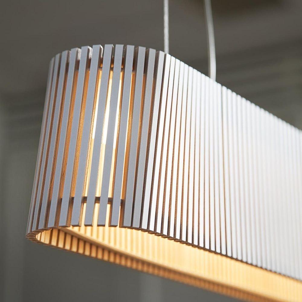 LED Pendelleuchte Owalo 7000 aus Holz 100cm 4