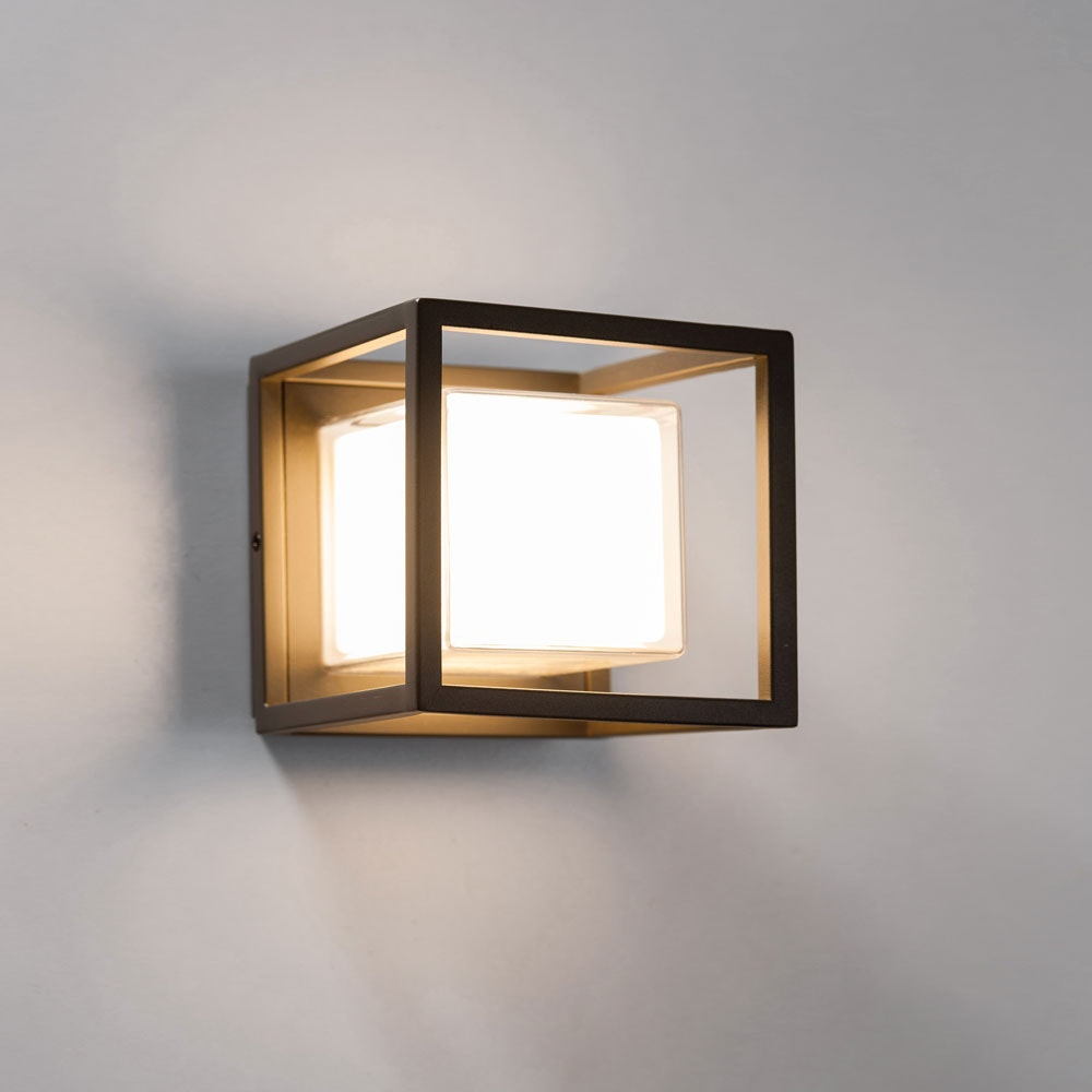 LED Aussenleuchte Quadro W20 Wand oder Decke 200W Anthrazit
