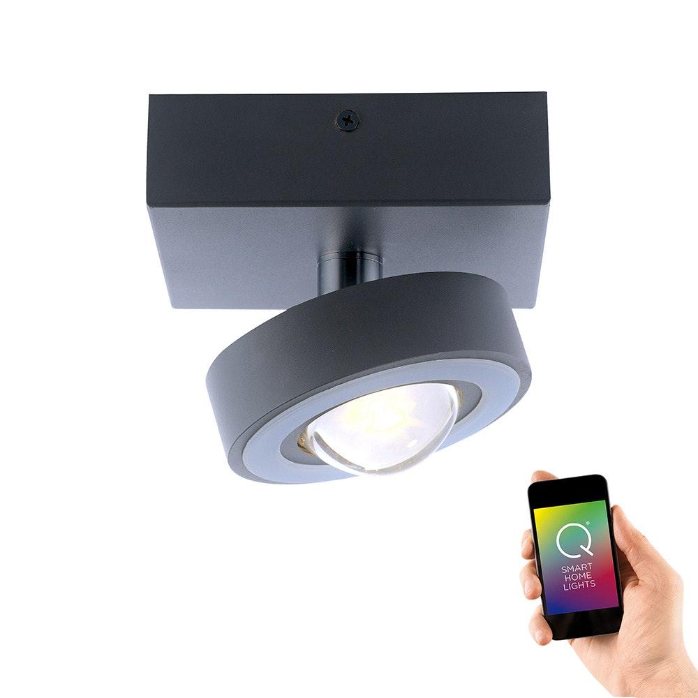 LED Deckenleuchte Q-Mia RGB+CCT Silberfarben 1