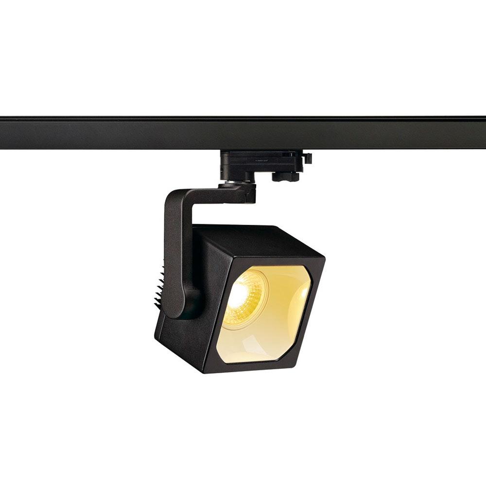 SLV Euro Cube LED Spot 90° inkl. 3P.-Adapter 3000K CRI90 Schwarz 1