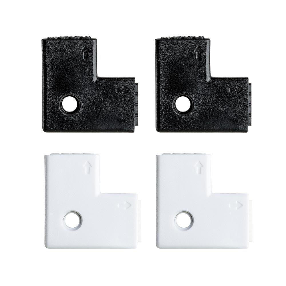 Function YourLED Edge-Connector 90°4er Pack Weiß Schwarz 1