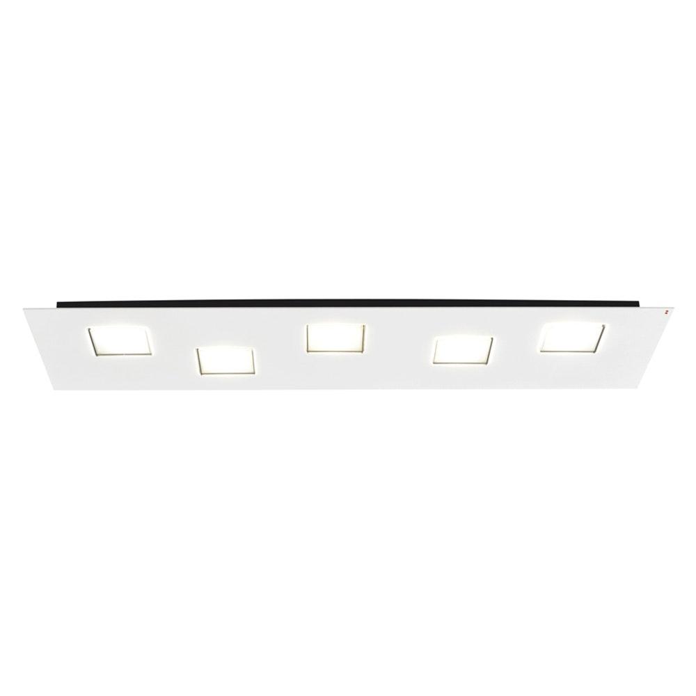 Fabbian Quarter LED-Deckenleuchte rechteckig 5-flammig 2