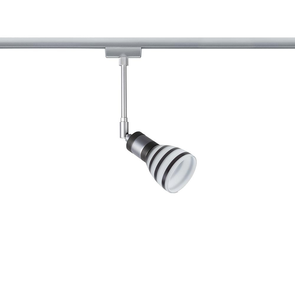 URail System Light&Easy Spot Titurel 1x42W G9 Opal Schwarz Glas 1
