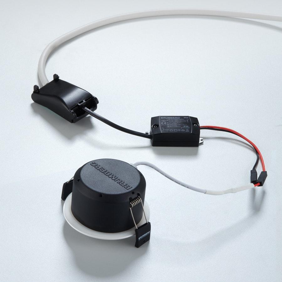 Brumberg LED Decken-Einbauleuchte Indiwo83 Nickel-Matt dim2warm 2