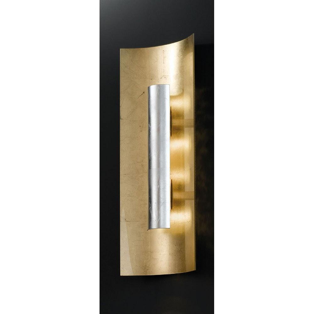 Aura Gold Wand- & Deckenleuchte 3-flammig Silber 60cm