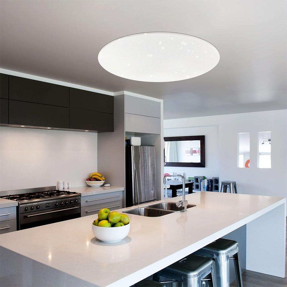 Connect LED Deckenlampe Kristalleffekt 5400lm RGB+CCT 1