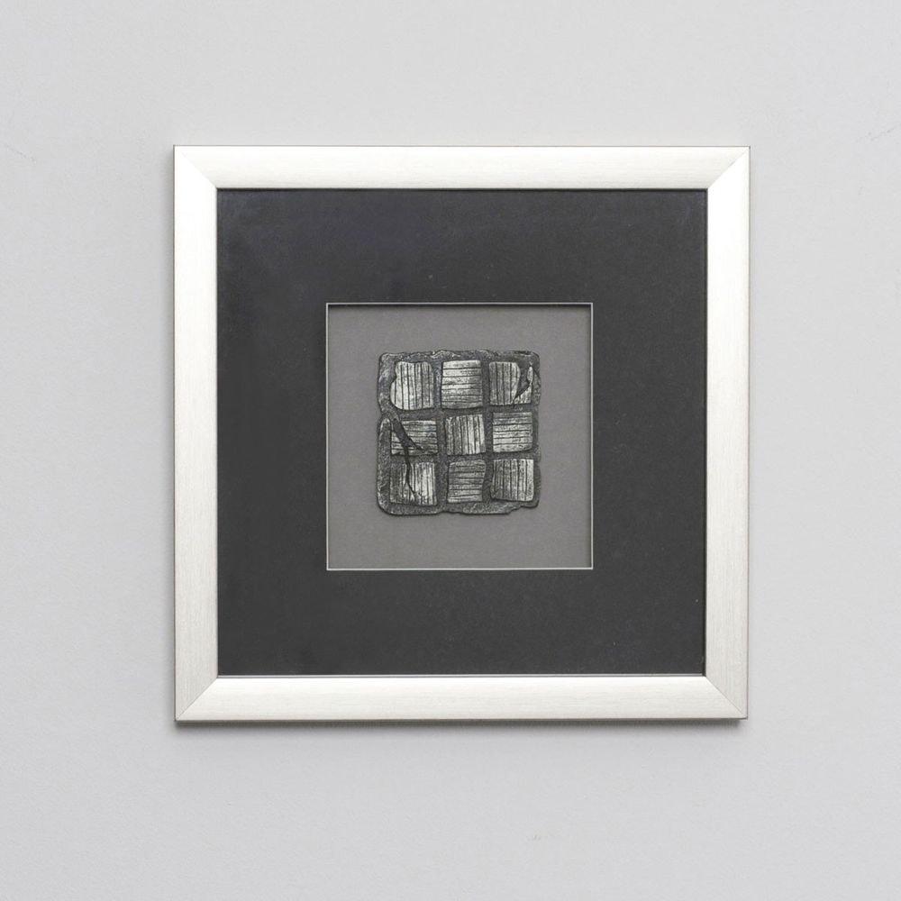 Wandbild Risultato 1 Holz-Glas-Kunststein Silber-Schwarz 1
