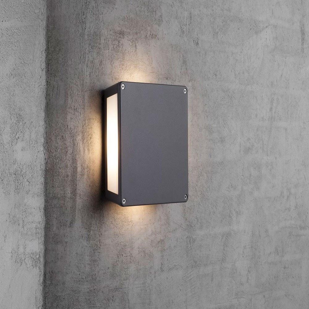 Nordlux Tamar Panel LED Aussen-Wandleuchte IP54 Grau 1