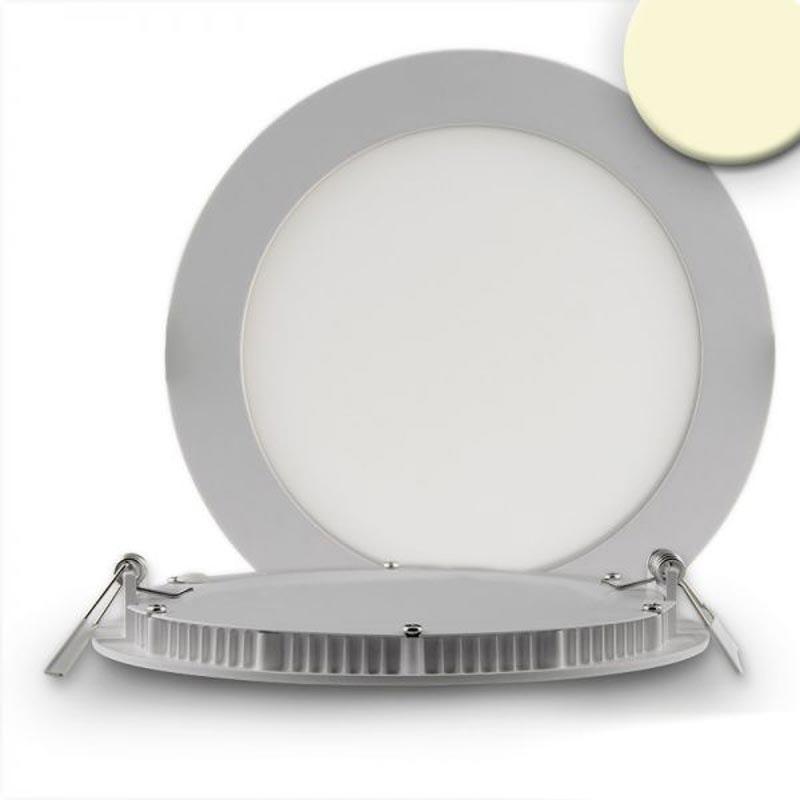 LED Einbaupanel Ø 17,5cm flach rund silber dimmbar 12W warmweiß 1