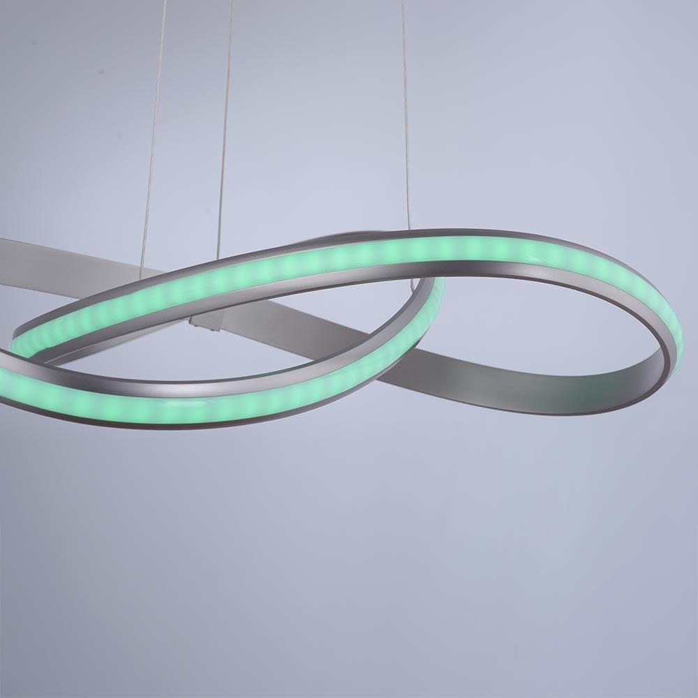 LED Pendelleuchte LS-Melinda RGB+CCT Stahl 3