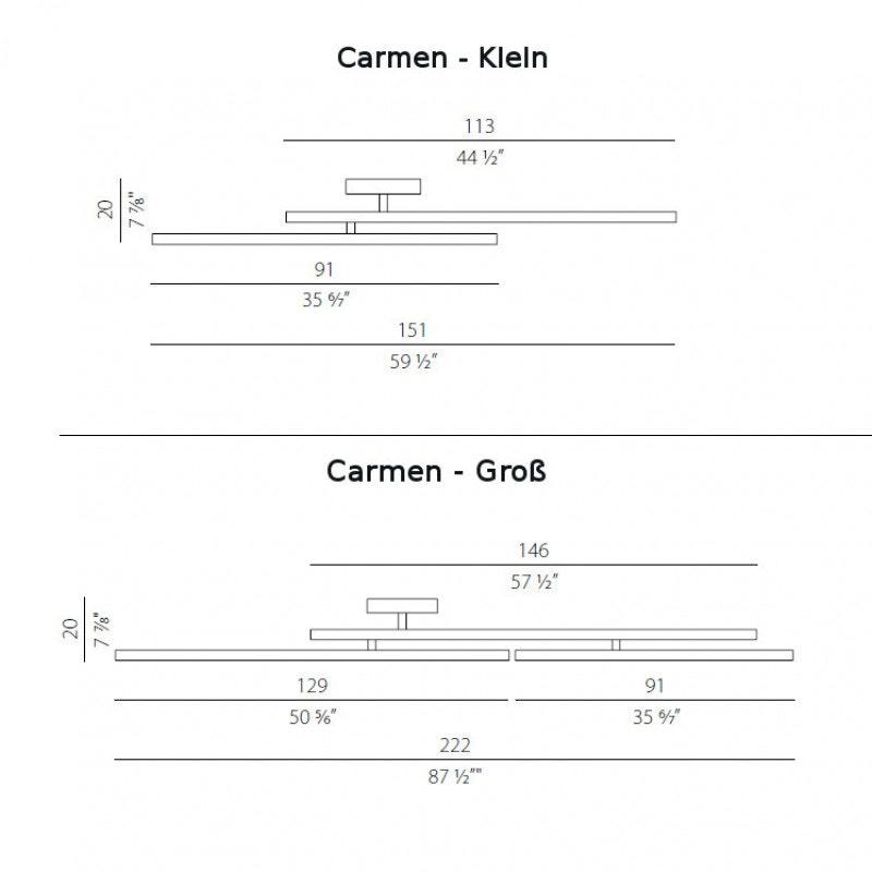 Panzeri Carmen LED Wand- oder Deckenleuchte drehbar 8