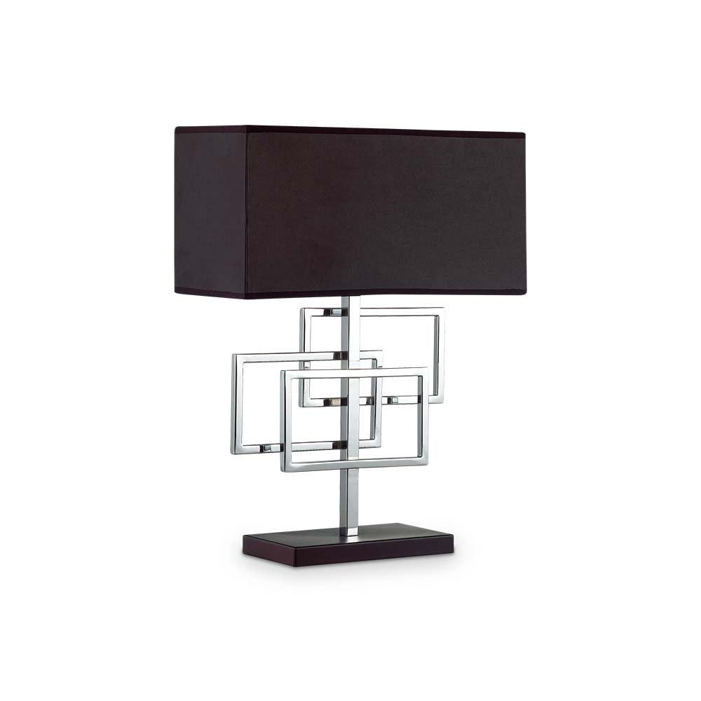 Ideal Lux Tischlampe Luxury Chrom, Schwarz