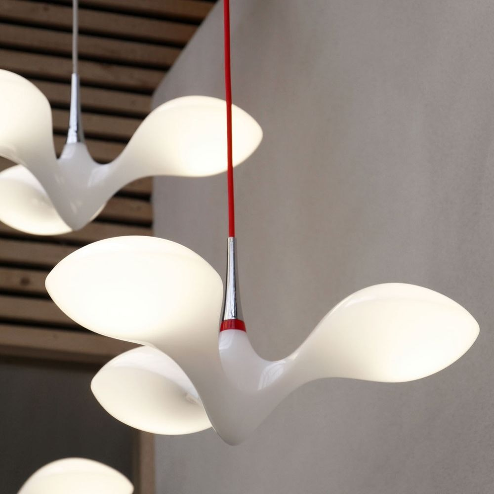 LED Hängeleuchte Enterprise 3-flammig Chrom, Holz, Weiß 6