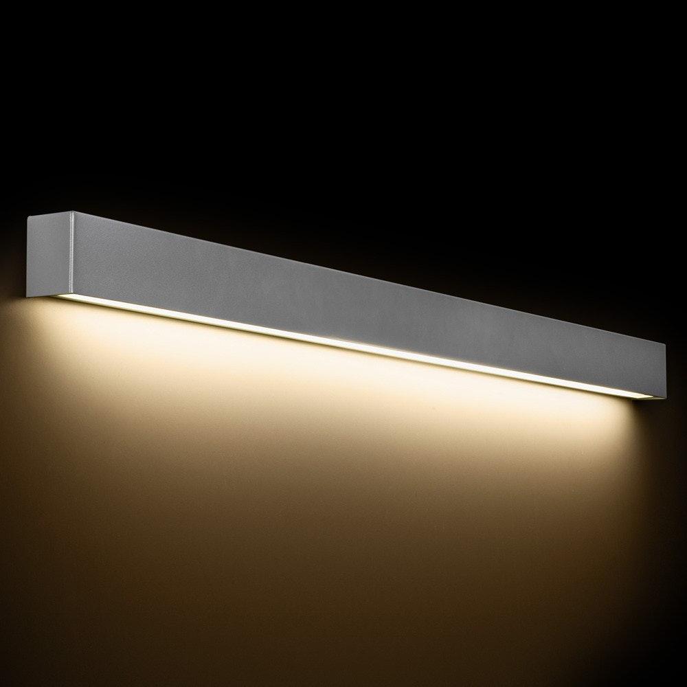 Wall L edle LED-Spiegelleuchte Silber