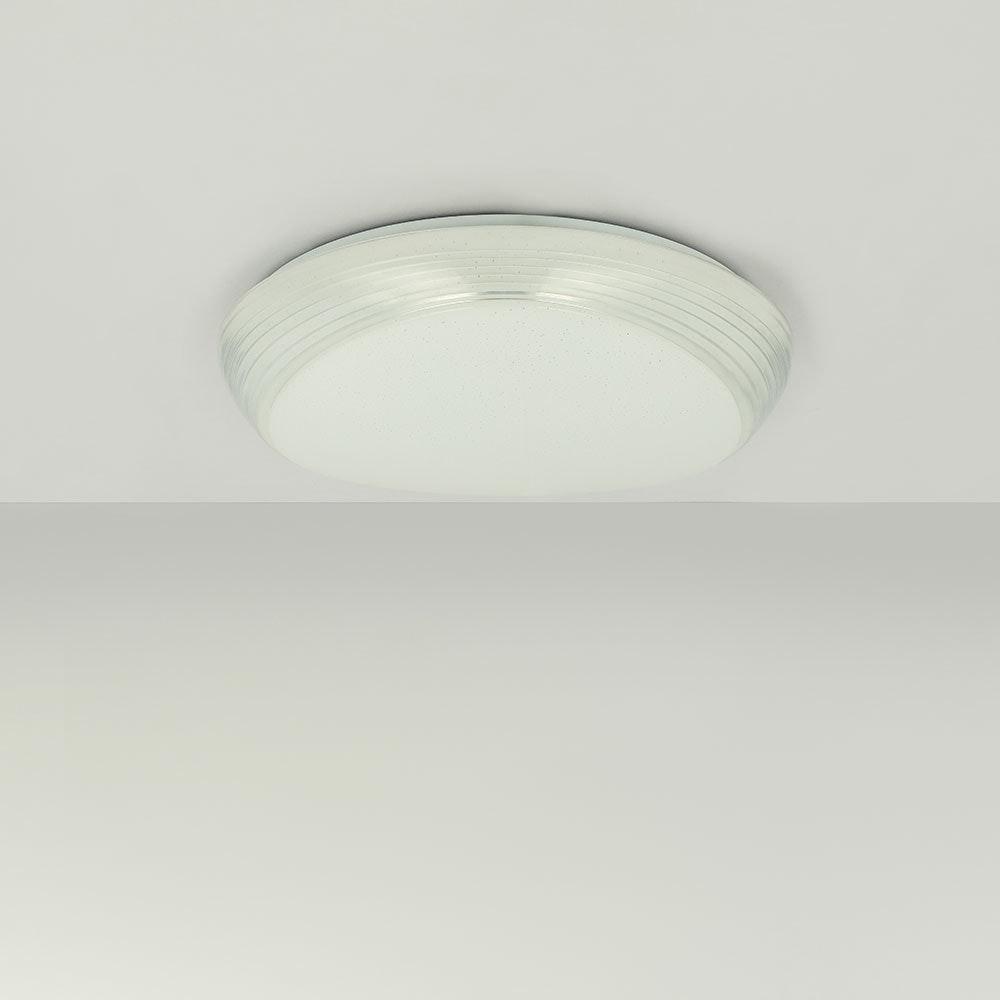 LED Deckenleuchte Lucas Sparkle Dekor CCT 3000-6000K Weiß, Opal 8
