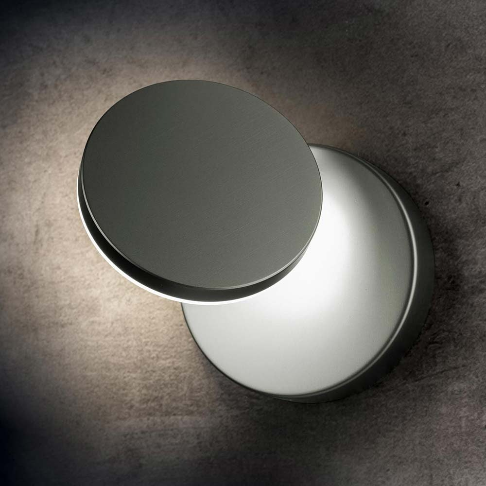 Holtkötter LED-Wandlampe PLANO W Platin Dimmbar 2000lm 2700K 1