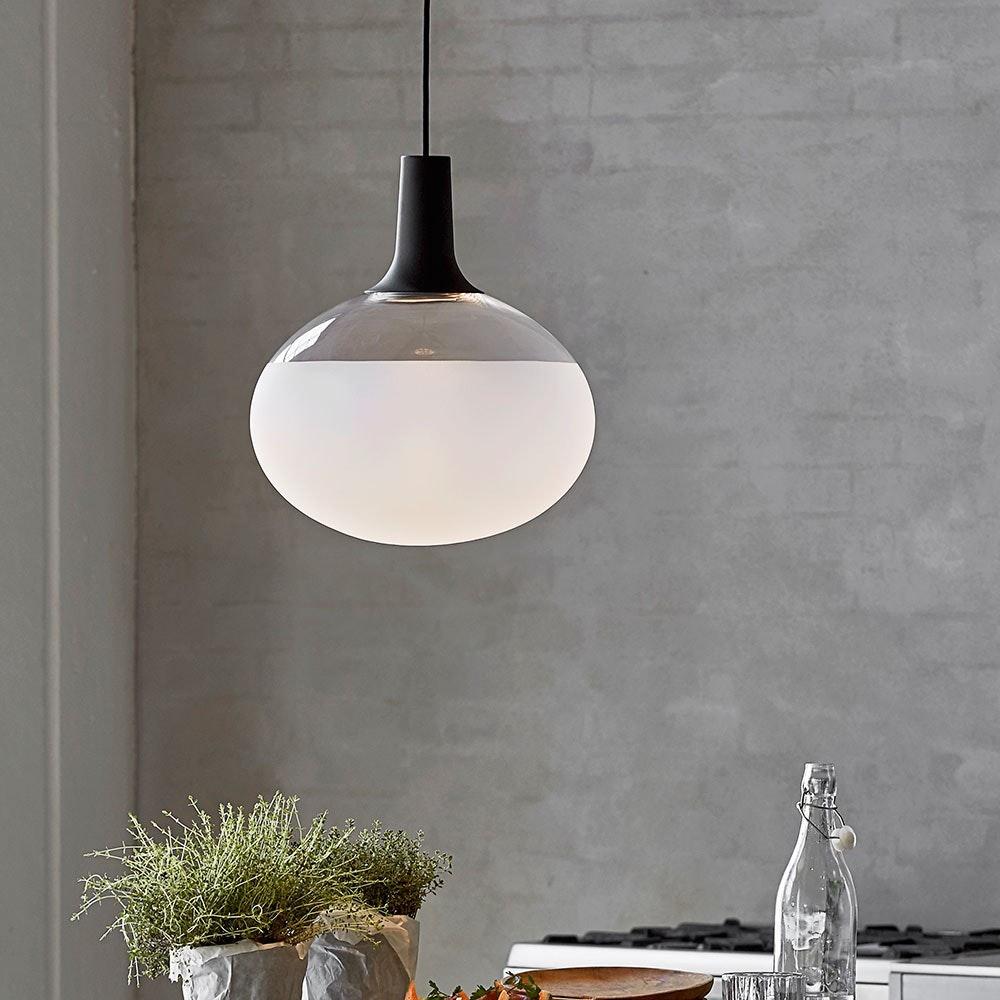 Design for the People Dee LED Glas Pendelleuchte Ø 35cm Dimmbar 980lm 3000K