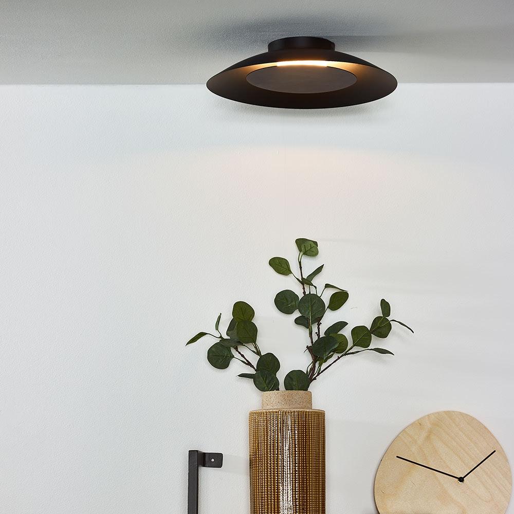 Stilvolle LED Deckenleuchte Foskal Ø 34,5cm Schwarz