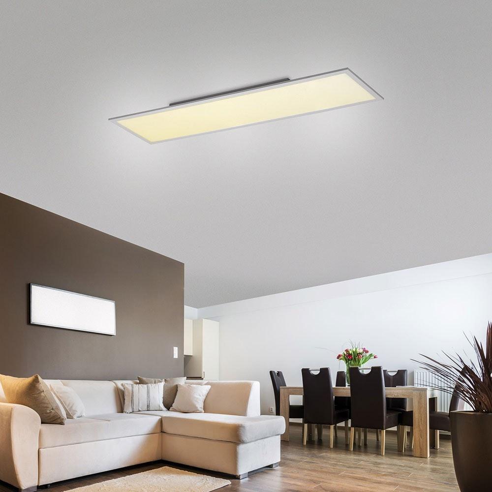 Q-Flat 120 x 30cm LED Deckenleuchte 4000K Weiß