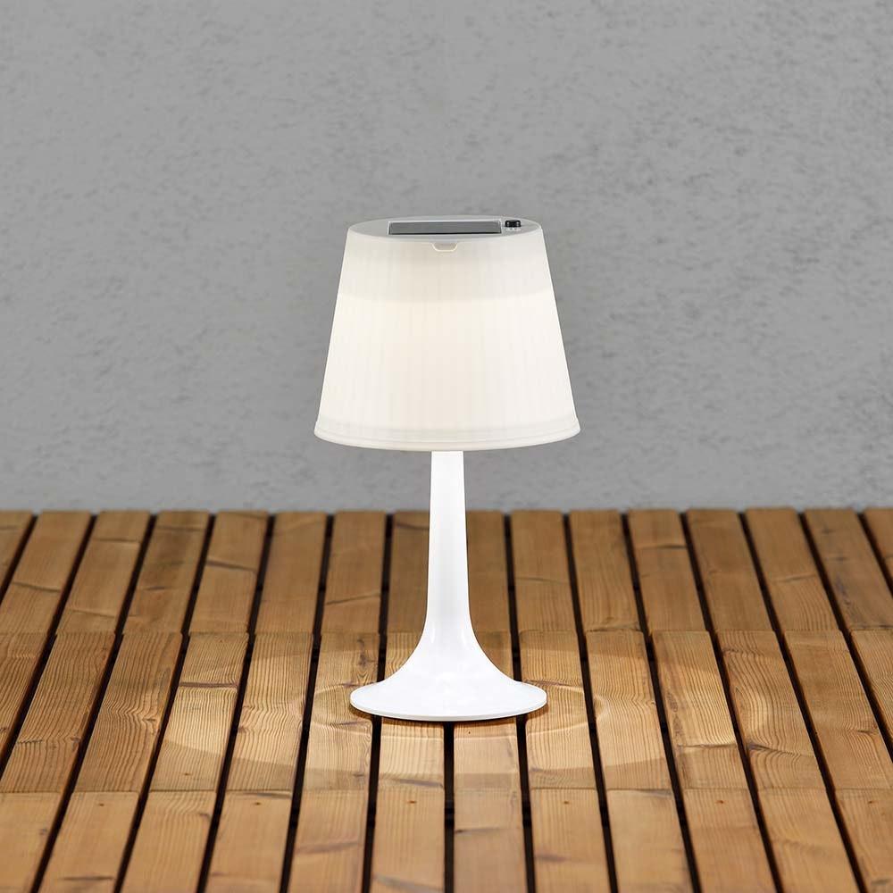 Solar LED Tischleuchte Assisi Weiß 2