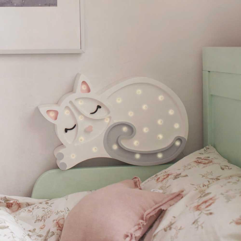 Little Lights Kinder Wand- & Tischleuchte Katze