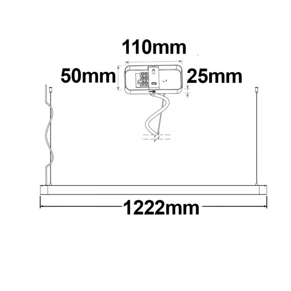 Büro LED Pendel-Schreibtischleuchte 3600lm Schwarz ColorSwitch 3000|4000|5700K thumbnail 5