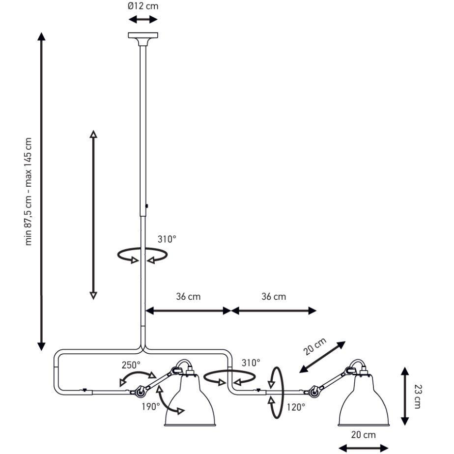 DCW Gras N°312 L Deckenlampe mit Ausleger thumbnail 5