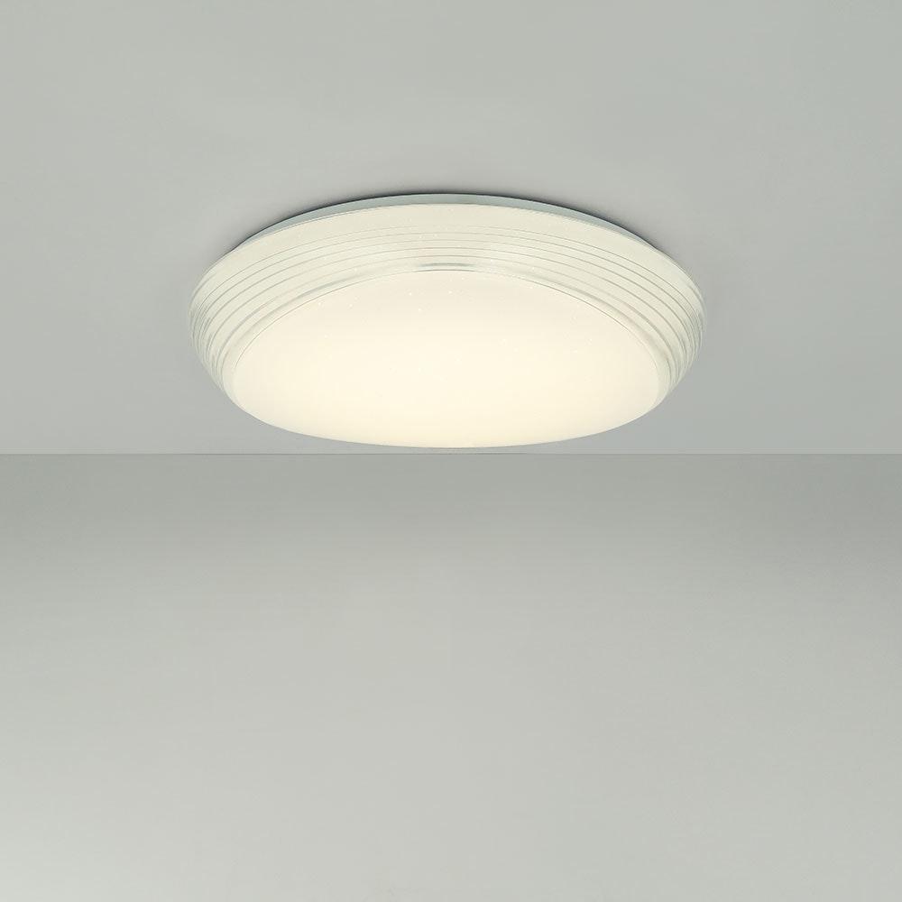 LED Deckenleuchte Lucas Sparkle Dekor CCT 3000-6000K Weiß, Opal 9
