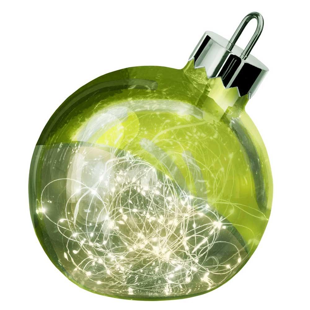 Weihnachtskugel Ornament 30cm Grün mit 9 Lichtspiele 2